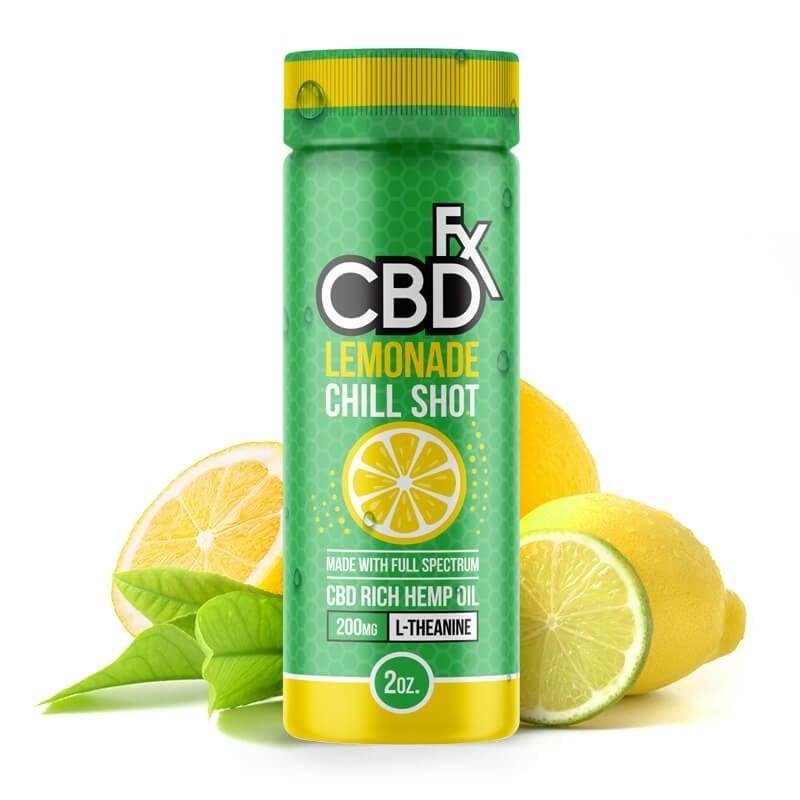 CBD Hemp Drink Chill Shot Lemon Lime Lemonade Beverage
