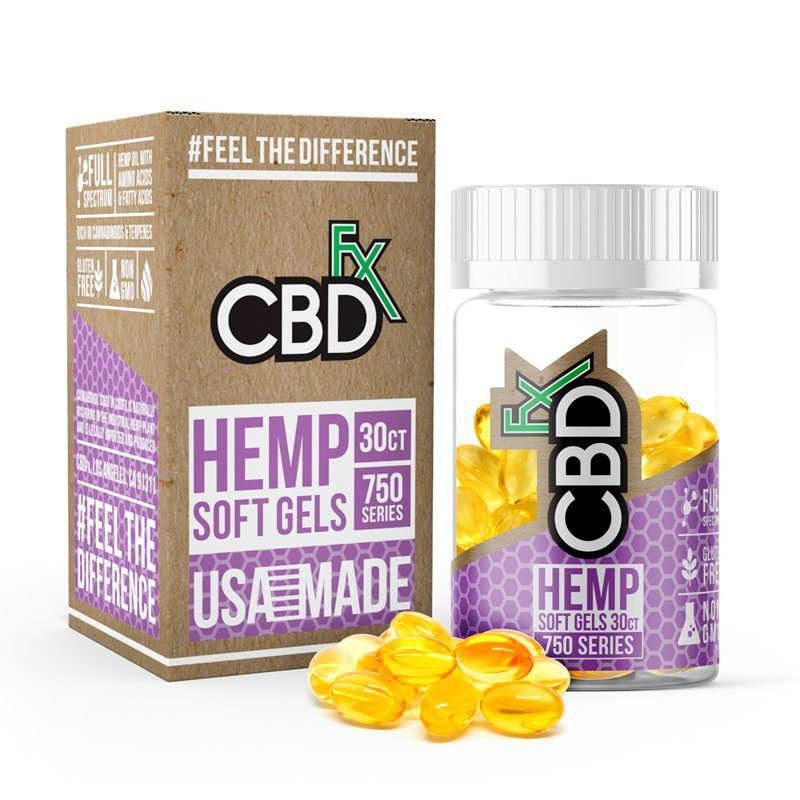 CBDFx CBD Hemp Oil Soft Gels - 750 mg