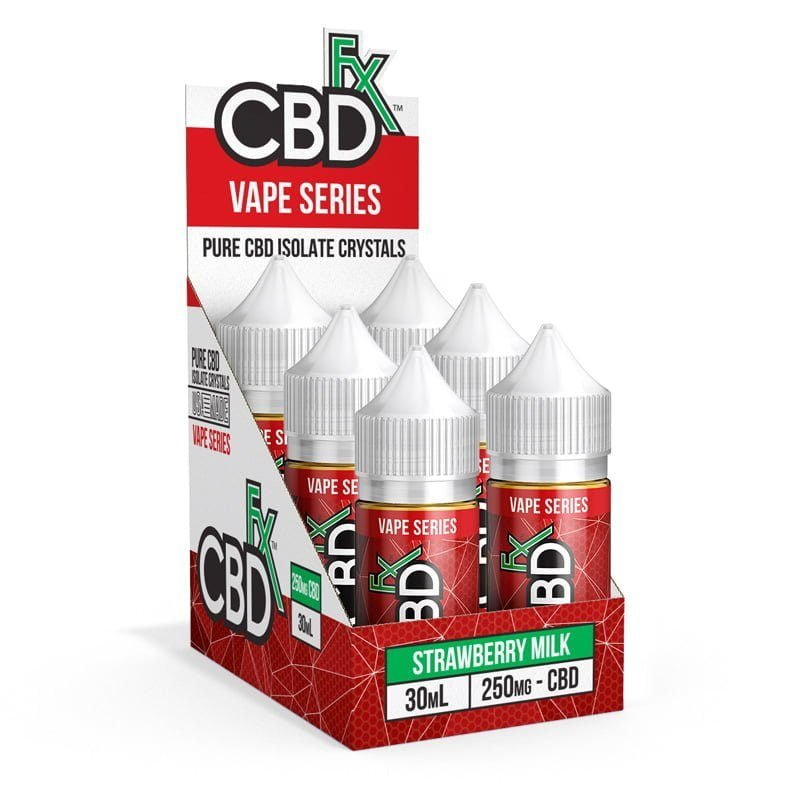 CBD Vape Juice - Strawberry Milk (6 Pack)