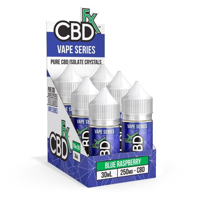 CBD Vape Juice - Blue Raspberry (6 Pack)