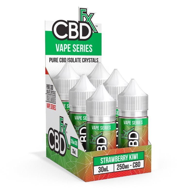 CBD Vape Juice - Strawberry Kiwi (6 Pack)