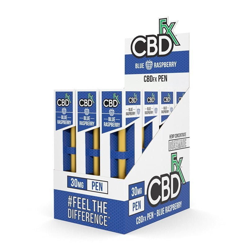 Disposable CBD Vape Pens - Blue Raspberry (12 Pack)