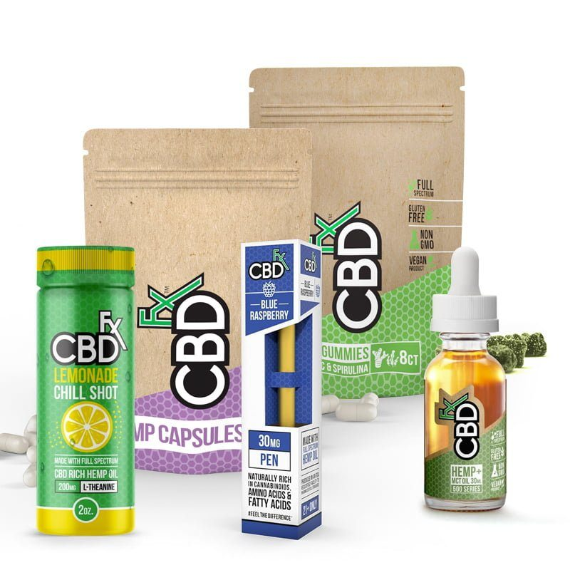 CBD Drink + CBD Oil Pen + CBD Capsules + CBD Gummies + CBD Tincture Oil