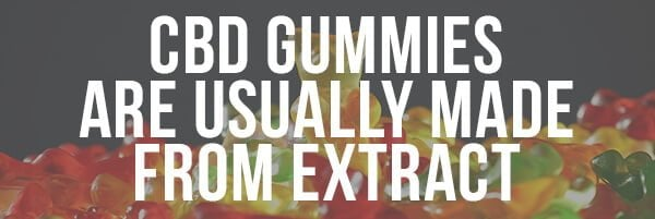 CBD Gummies are Usually Made From Extract