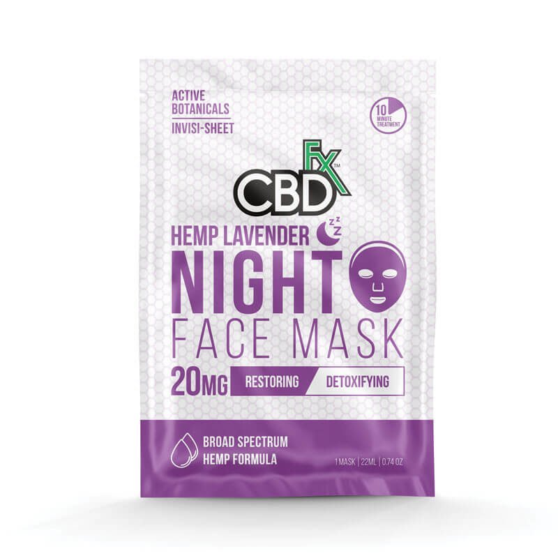 CBD night face mask - 20mg