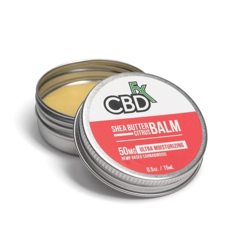 cbd mini balm shea butter citrus