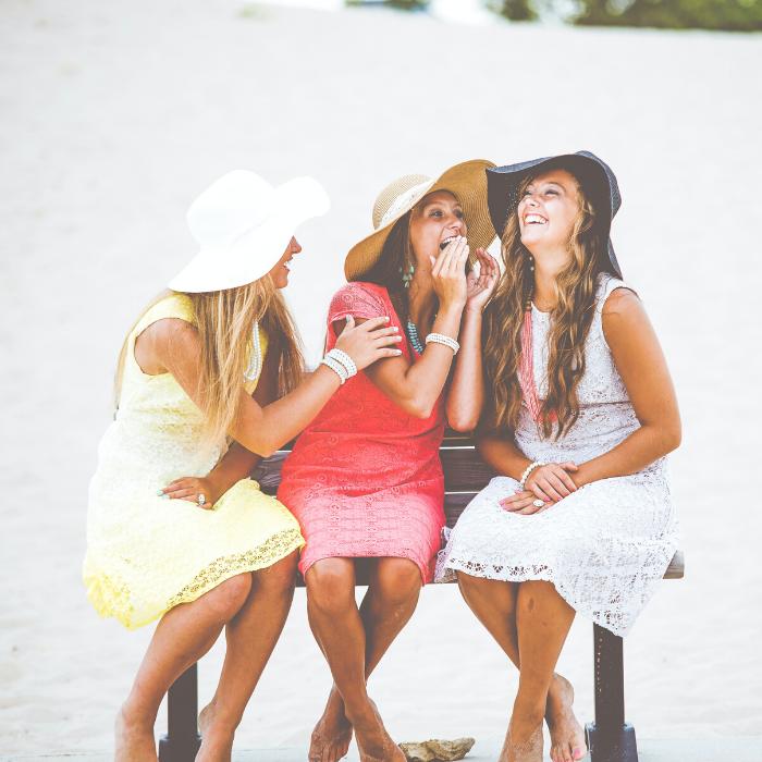 A group of women talking