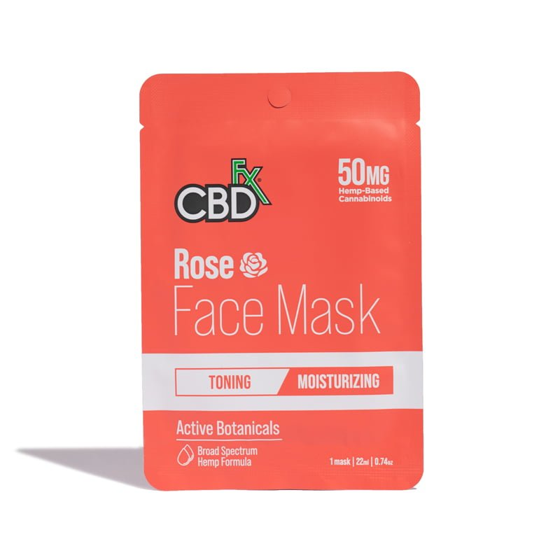 CBD Face Mask Rose 50mg