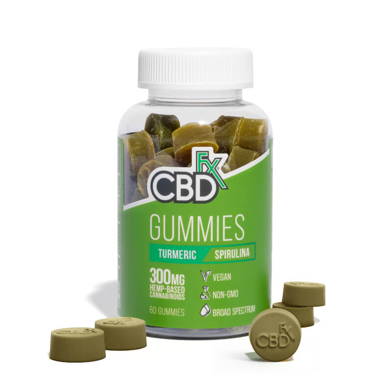 Turmeric & Spirulina CBD Gummies - 300mg Bottle