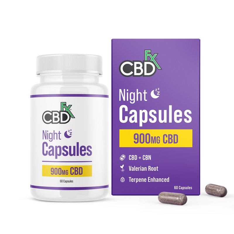 CBDfx CBD + CBN Night Capsules For Sleep 900mg