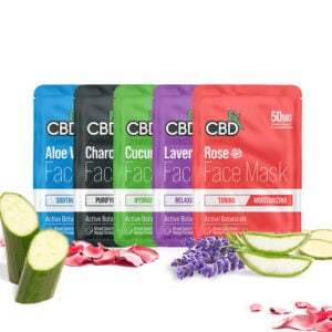 cbdfx face masks topical charcoal aloe vera cucumber rose lavender bundle
