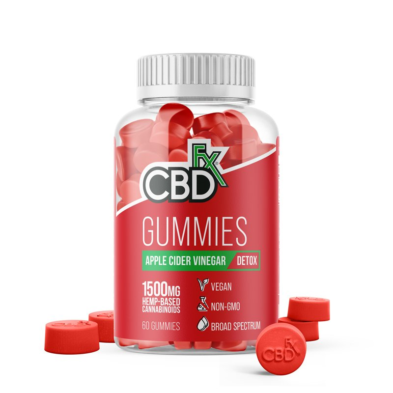 CBDfx CBD Gummies with Apple Cider Vinegar 1500mg