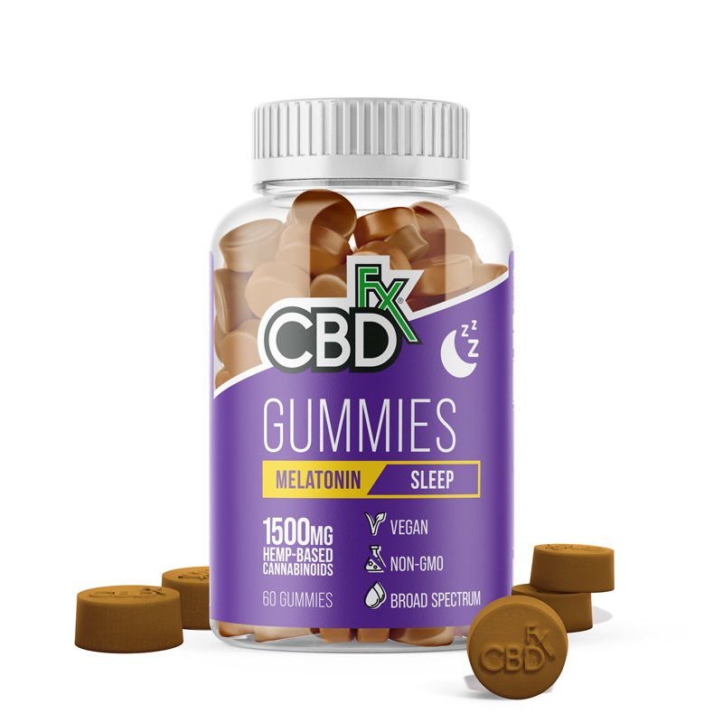 CBDfx CBD Gummies for Sleep with Melatonin 1500mg