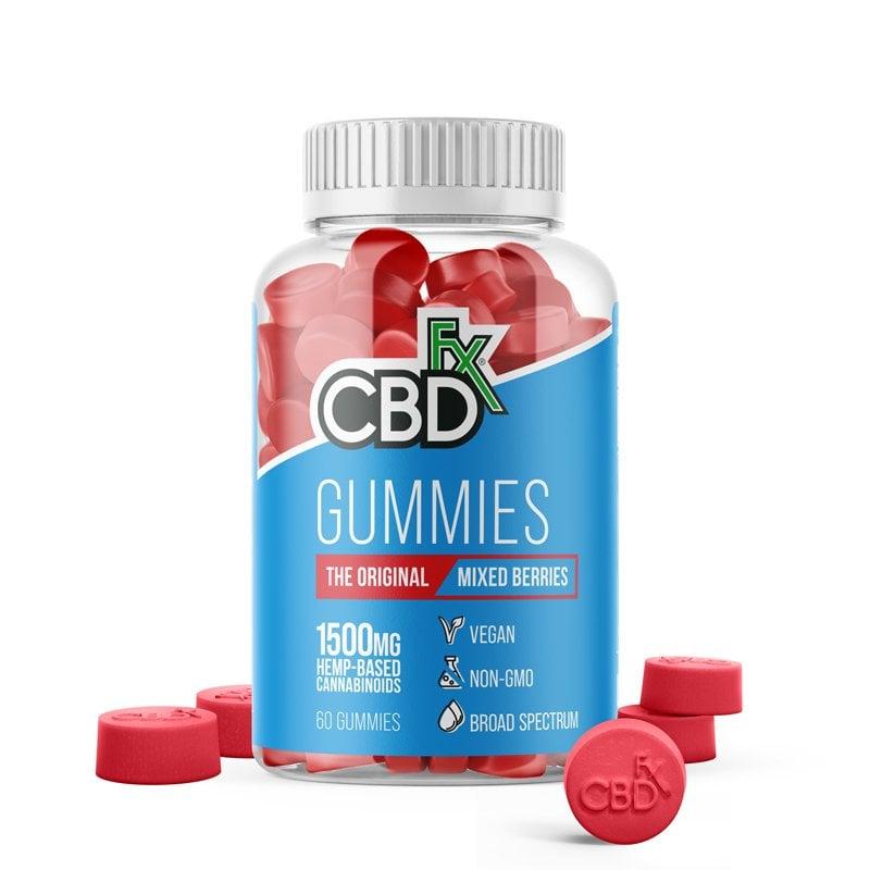 cbdfx gummies original mixed berries mg