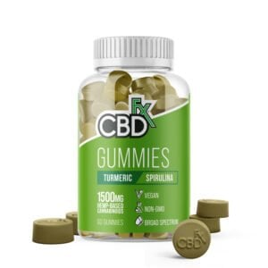 cbdfx gummies turmeric and spirulina 1500mg