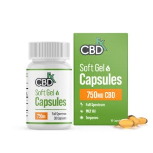 cbdfx soft gel capsules mg
