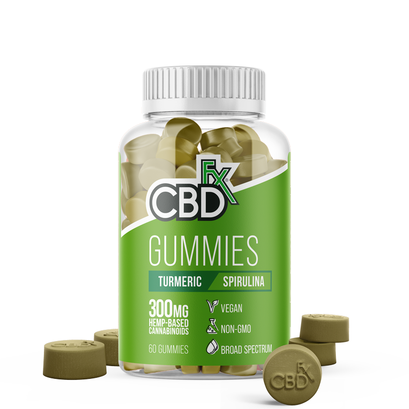 Turmeric & Spirulina CBD Gummies - 1500mg Bottle