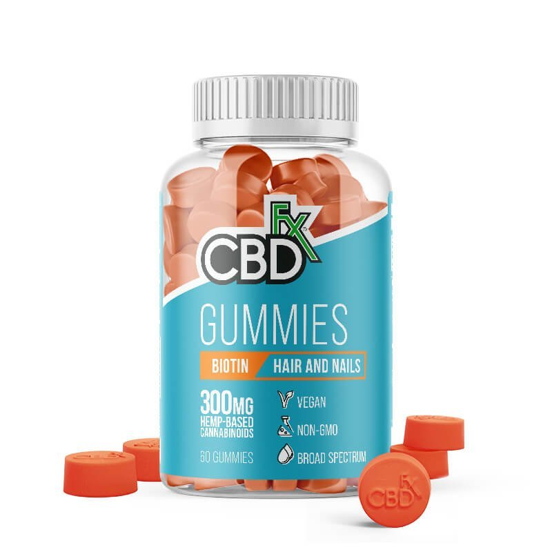 CBDfx CBD Gummies with Biotin for Hair & Nails